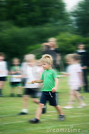 Child at school sports day