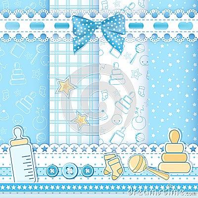 Free Child Seamless. Blue Stock Image - 29599201