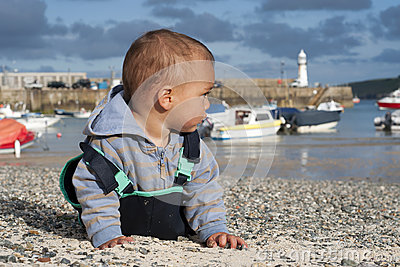 Child at seaside