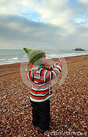 Child seaside