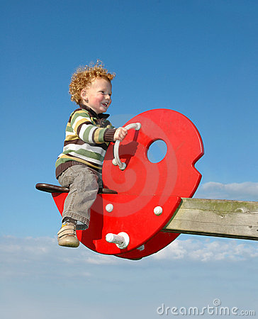 Child on See Saw