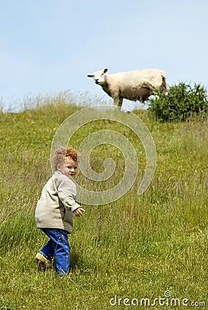 Child and Sheep