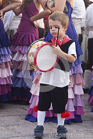 Child from sicilian folk group Editorial Stock Image