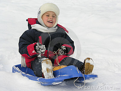Child on sled