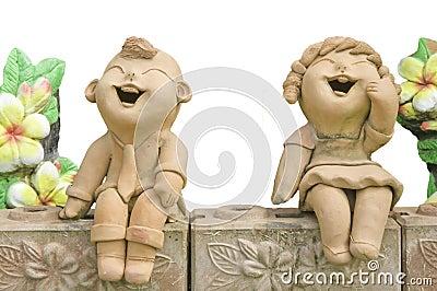 Child smile statue