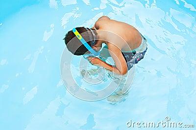 Child snorkeler