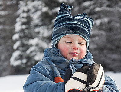 Child in snow