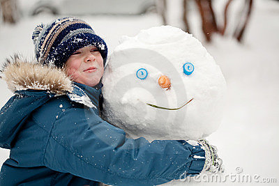 The child and the Snowman