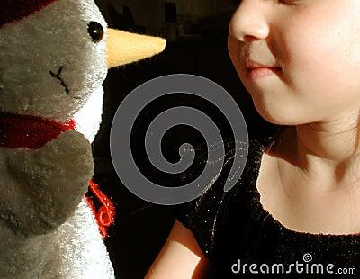 Child & Snowman