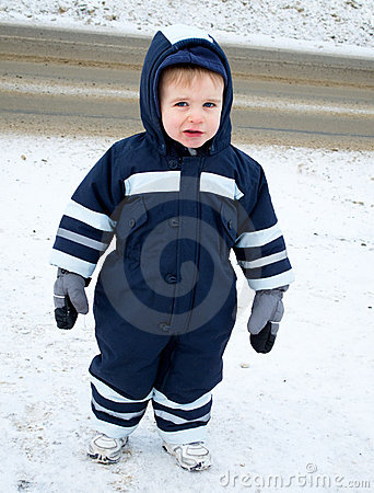 Child in snowsuit