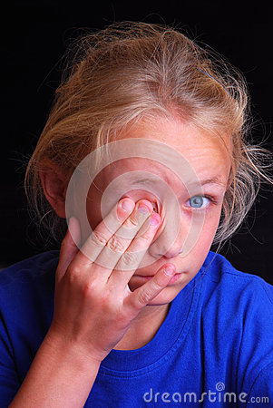 Child with sore eye