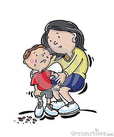 Child with sore knee