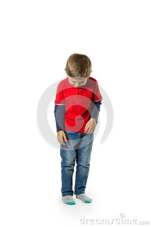 Child Standing Crying Stock Photo Image 45606286