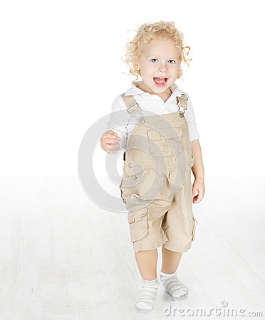 Child standing on white floor
