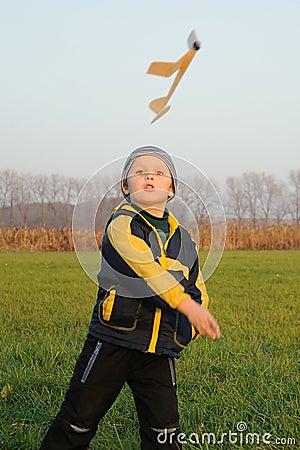 Child starting plane model