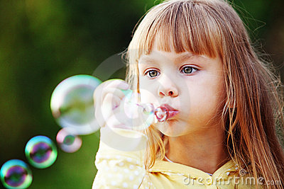 Child Starting Soap Bubbles Stock Photography - Image: 16226522