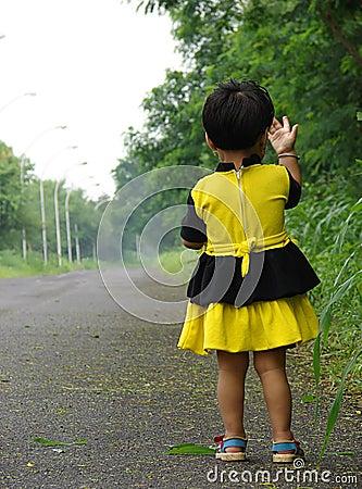 Child on street