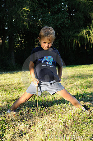 Child stretching body