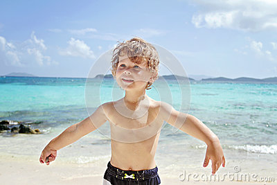 Child Summer Beach and Ocean Fun