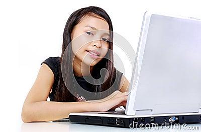 Child surfing internet