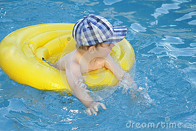 Child Swim Stock Photo Image 49956276