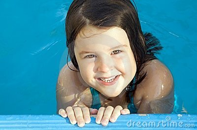 Child at the swimming pool