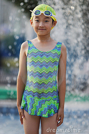 Child with swimsuit