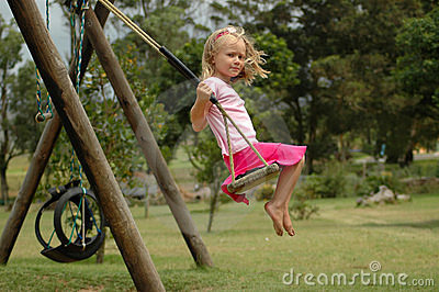 Child swinging