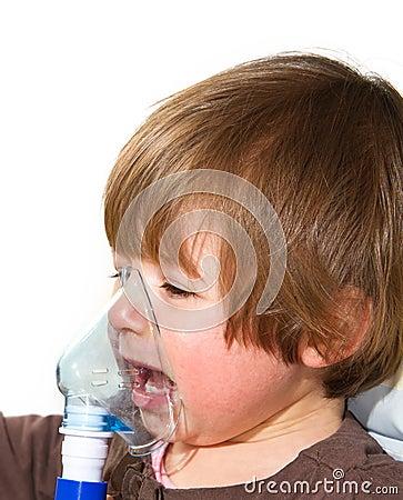 Child taking respiratory
