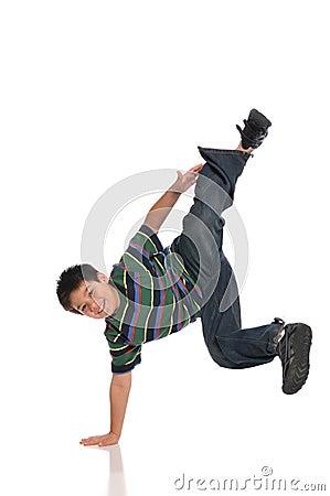Child tap dancer