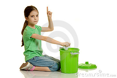 Child throws the paper