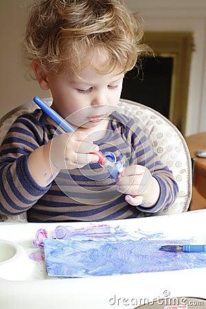 Child, Toddler Drawing Art