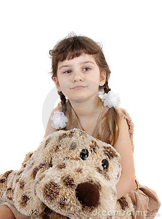 Child with a toy.