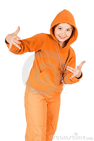 A child in a track suit