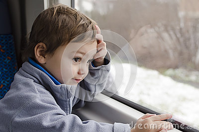 Child on train