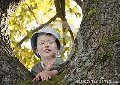Child on tree