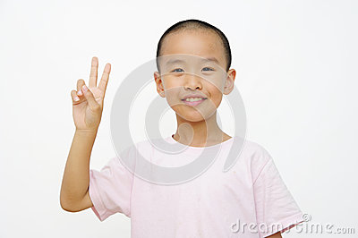 Child and  two fingers