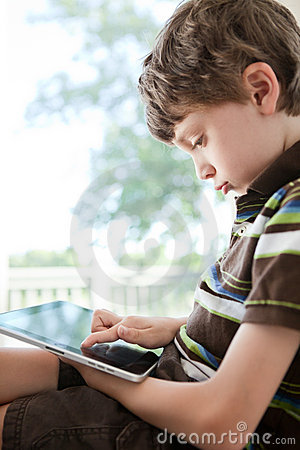 Child using tablet PC
