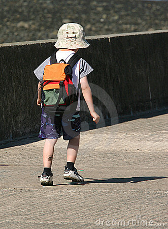 Child Walking Alone