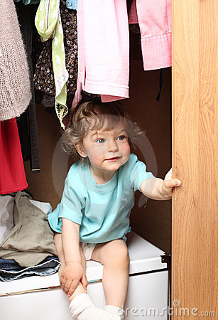 Child in wardrobe