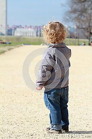 Child in Washington DC