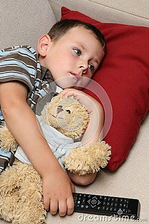 Free Child Watching TV Royalty Free Stock Image - 6186146