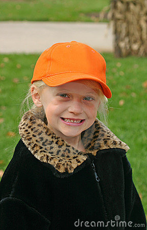 Child Wearing Orange Hat