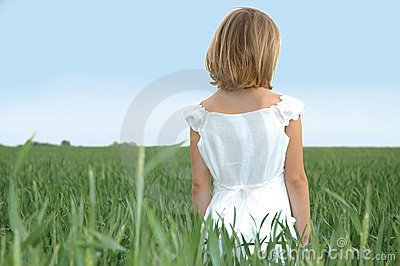 Child in a Wheat Feild