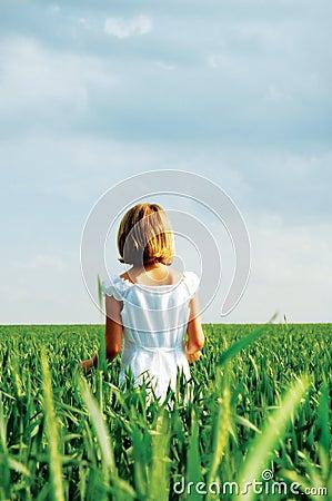 Child in a Wheat Feild