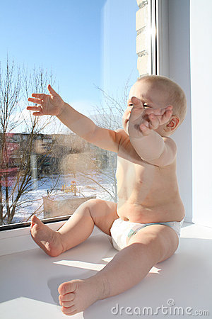 The child on a window sill