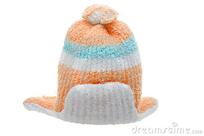 Child winter clothes cap