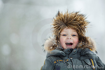 Child in winter hat