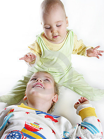 Free Child With Baby Royalty Free Stock Photos - 233108