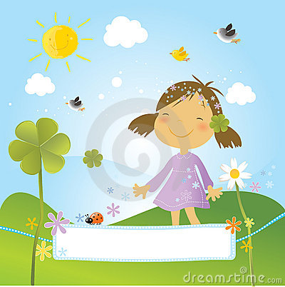 Free Child With Clover Stock Photo - 8103450